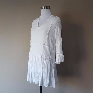 Dress White Medium Viscose